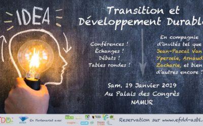 Journée Transition et développement durable – 19/01/2019
